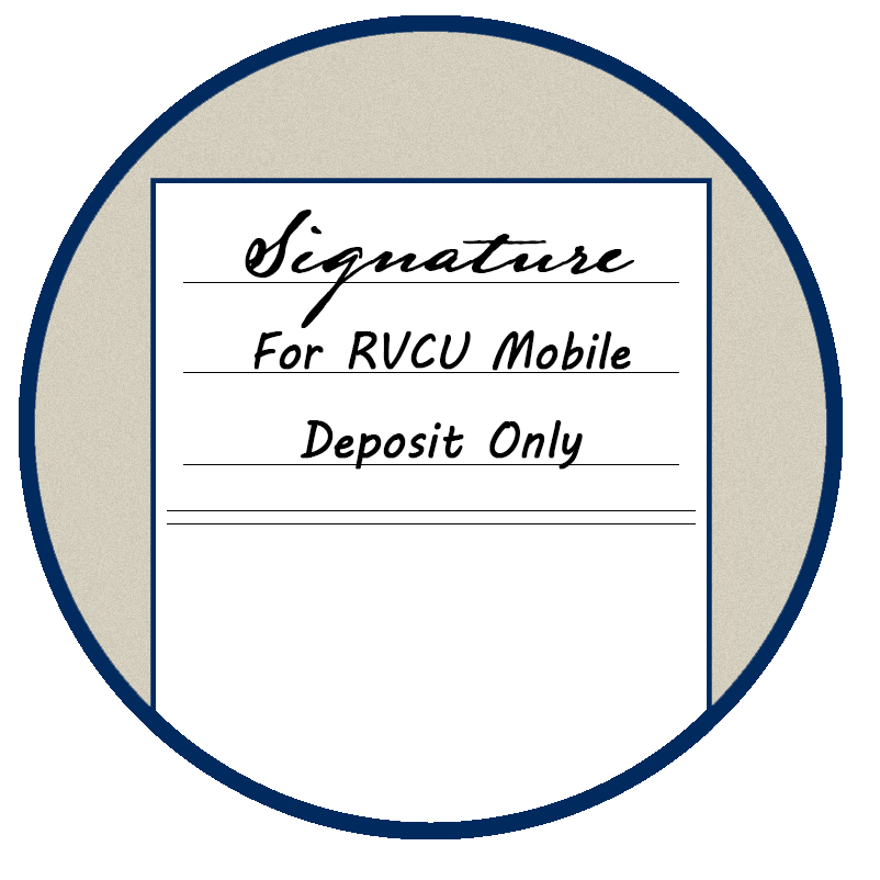 Mobile Deposit Check Endorsement Example